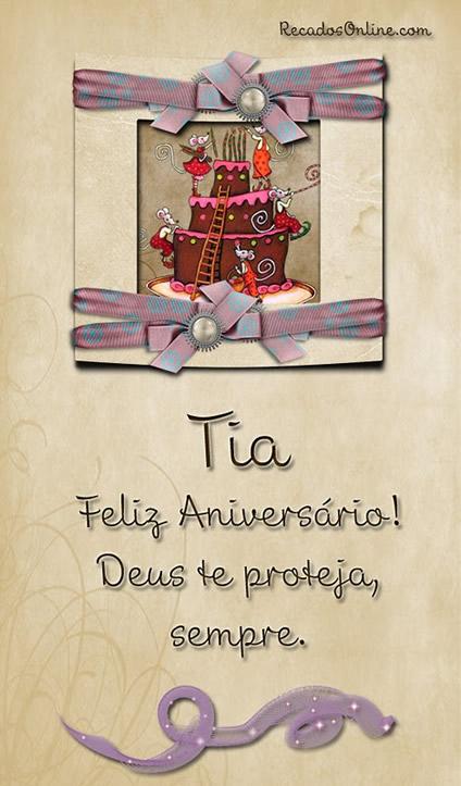 Recado Facebook Titia feliz aniversário!