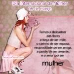 Recado Facebook Mensagem para o dia da mulher