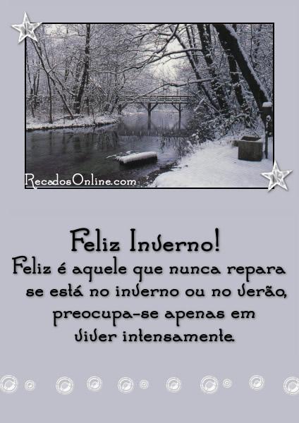 Recado Facebook Feliz inverno!