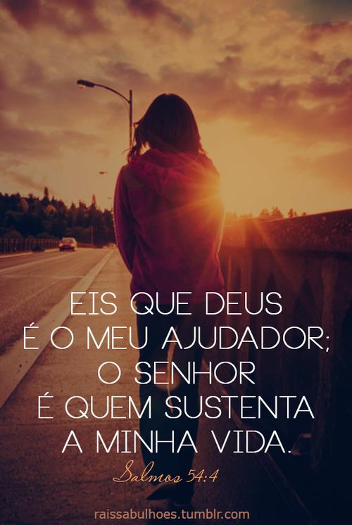 Recado Facebook O Senhor me sustenta!