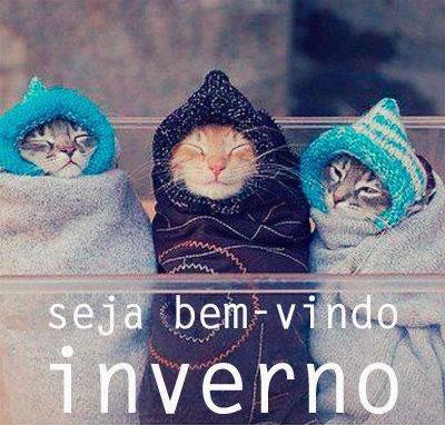 Recado Facebook Seja bem vindo inverno!