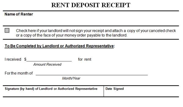 Free Rental Receipt. Cv Layout