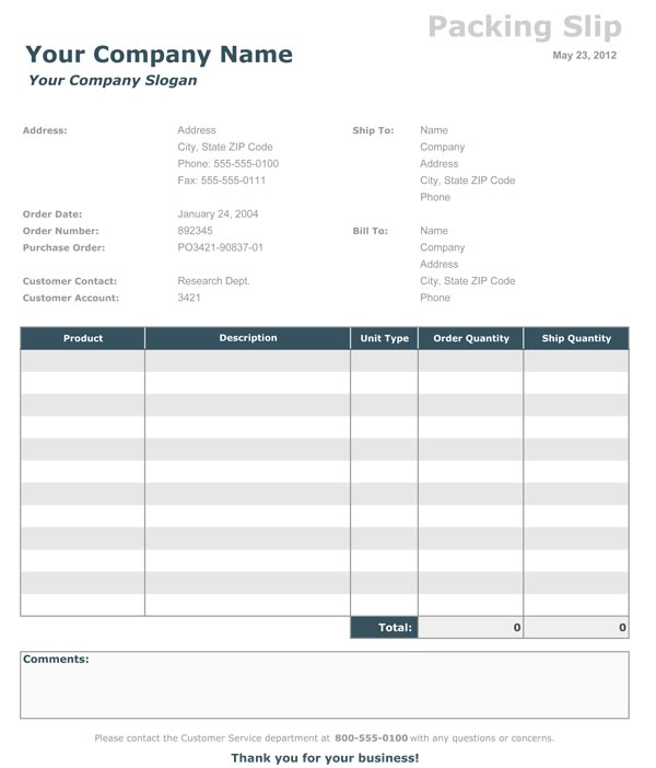 packing slips forms - Maggilocustdesign - packing slip format