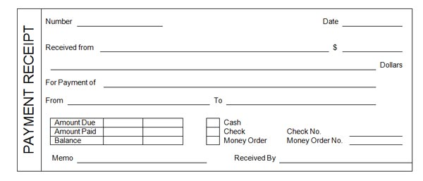 Receipt Template - daycare invoice template