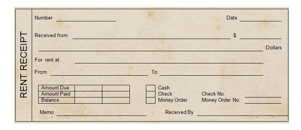 Printable Rent Receipt - printable rent receipts