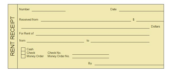 Rent Payment Receipt - home rental receipt