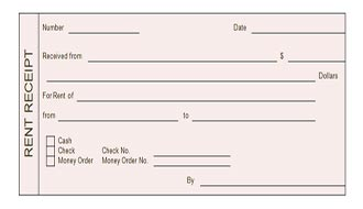 Free Rent Receipt Form. Coverpage Templates