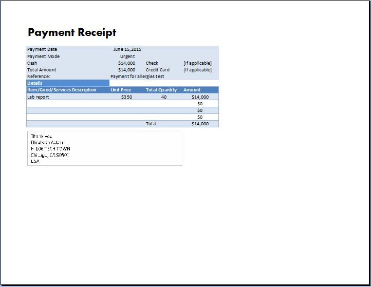 template payment receipt - Ozilalmanoof - Examples Of Receipts For Payment