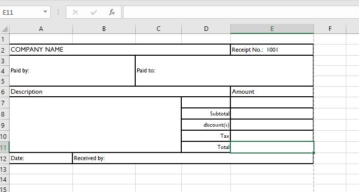Cash Receipt Templates for MS Word  Excel Receipt Templates - How Do You Make A Receipt