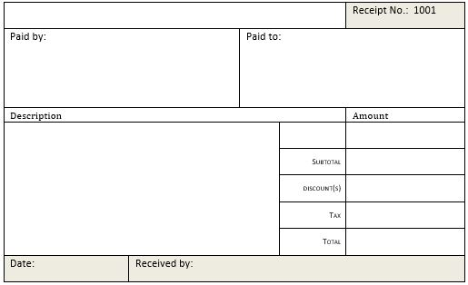 Cash Receipt Templates for MS Word  Excel Receipt Templates - make a receipt in word