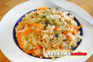 Ensalada de arroz y pavo - Recetas de cocina RECETASonline