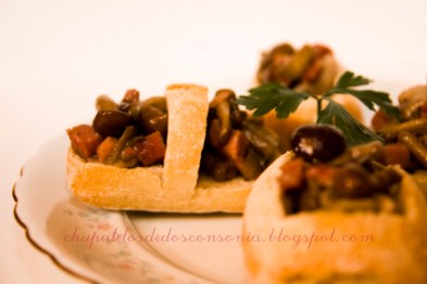 Cestas de setas con jamón - Sonia Herrero - Recetas de cocina RECETASonline