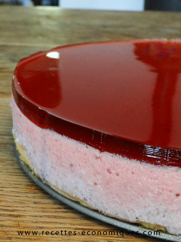 Recette du bavarois aux fraises au thermomix excellent for Miroir aux fraises