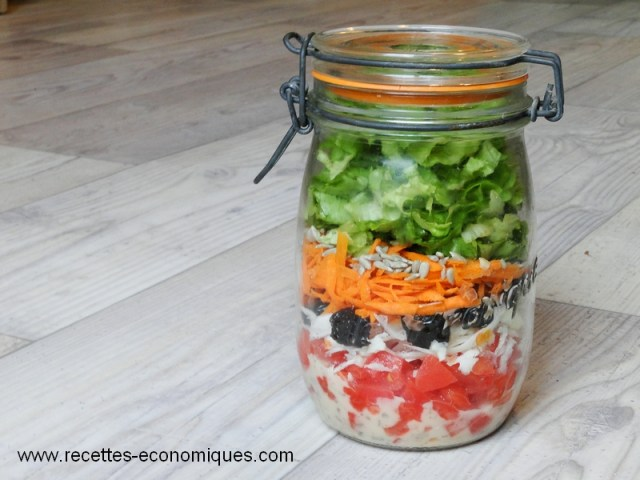 salade en bocal jar
