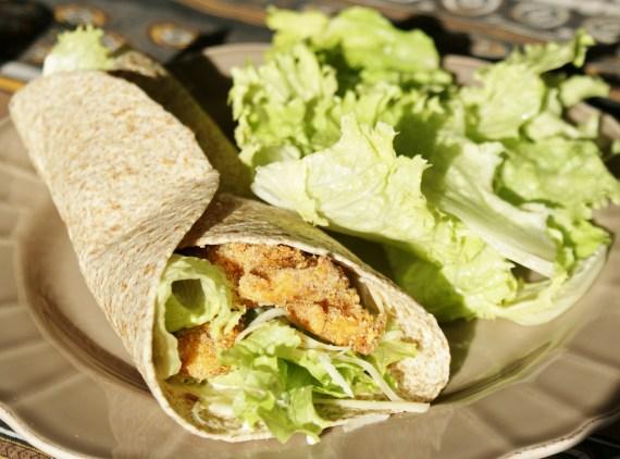 Wrap de poulet sauce ranch - recette américaine - cuisine US