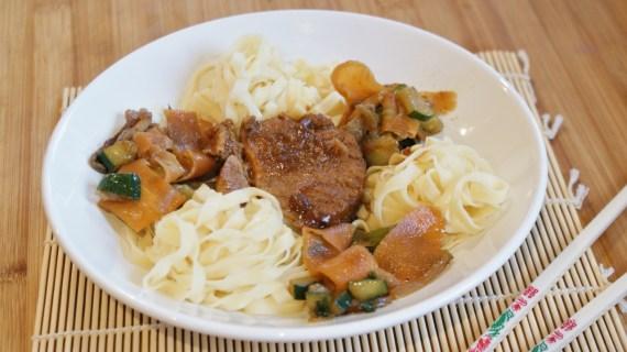 Rôti de porc dans l'échine, marinade au miso rouge © Balico and co