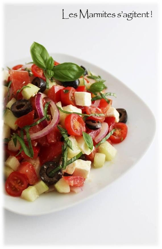 Salade grecque par Les marmites s'agitent