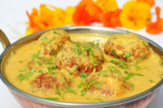 Un malai kofta à Agra - Une ville, un plat © https://www.mareenasrecipecollections.com