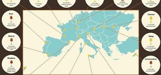 mapa de los vinos dulces