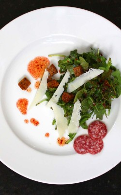arugula salad with cranberry pomegranate vinaigrette