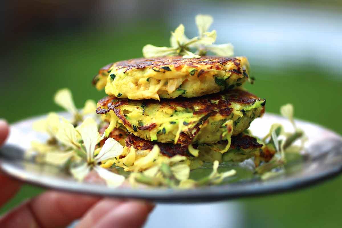 Zucchini Falafel Fritters