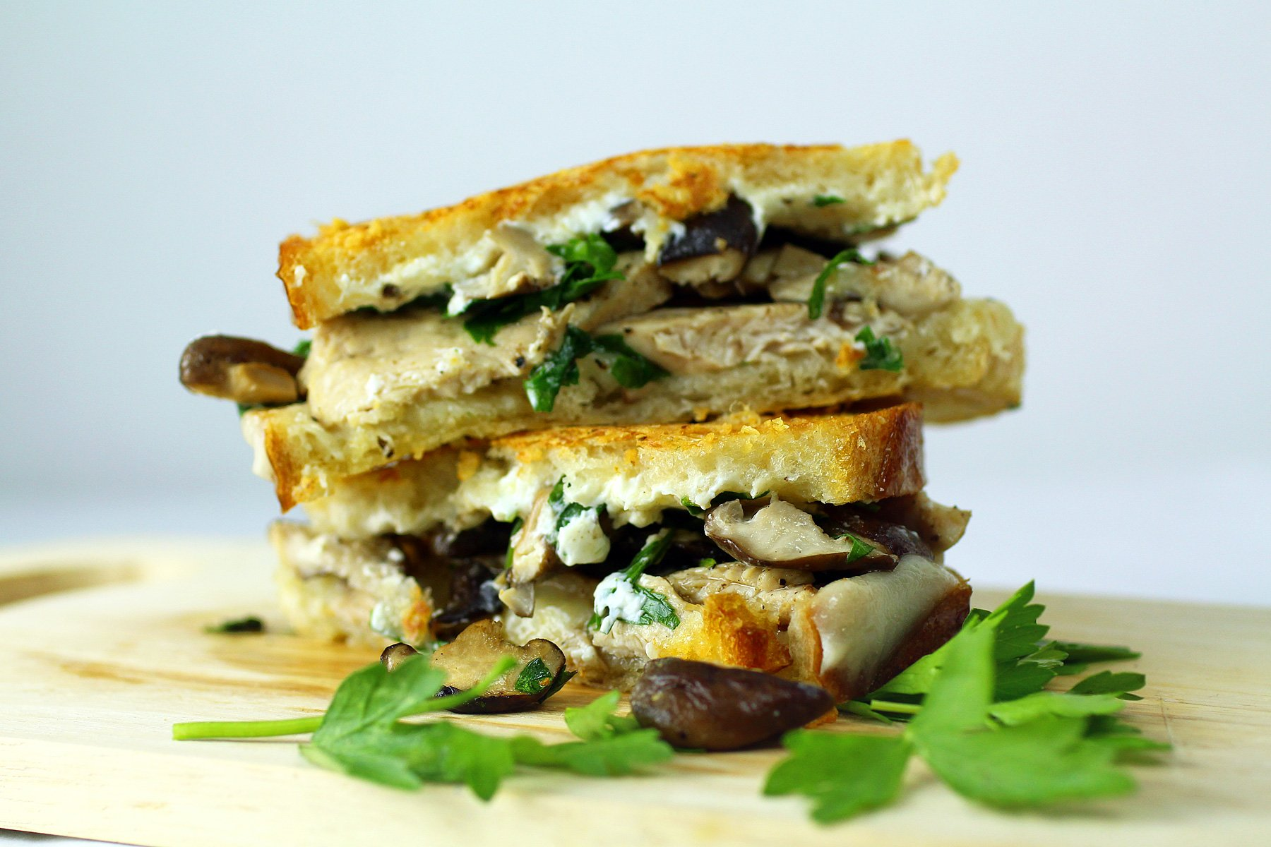 The Turkey Tetrazzini Grilled Cheese Sandwich