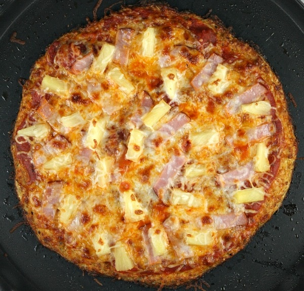 Paleo Crab and Pineapple Pizza