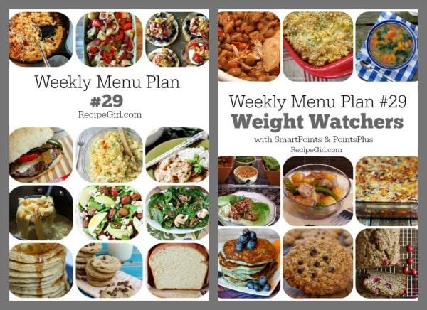 Weekly Menu Plan #29 - Recipe Girl