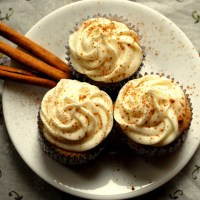 Apple Cider Cupcakes with Cider Spiked Cream Cheese Frosting