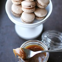 Chocolate and Salted Butter Caramel Macarons