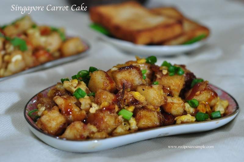 Singapore Fried Carrot Cake