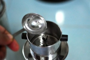 Vietnamese Coffee Recipe - pour little water first