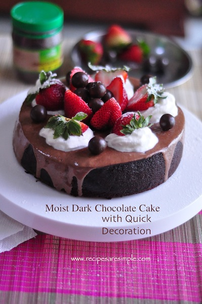 moist dark chocolate cake