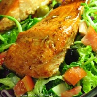 baked salmon with balsamic vinegar dressiing