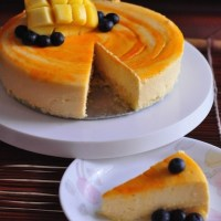 mango cheesecake with spongecake base recipe