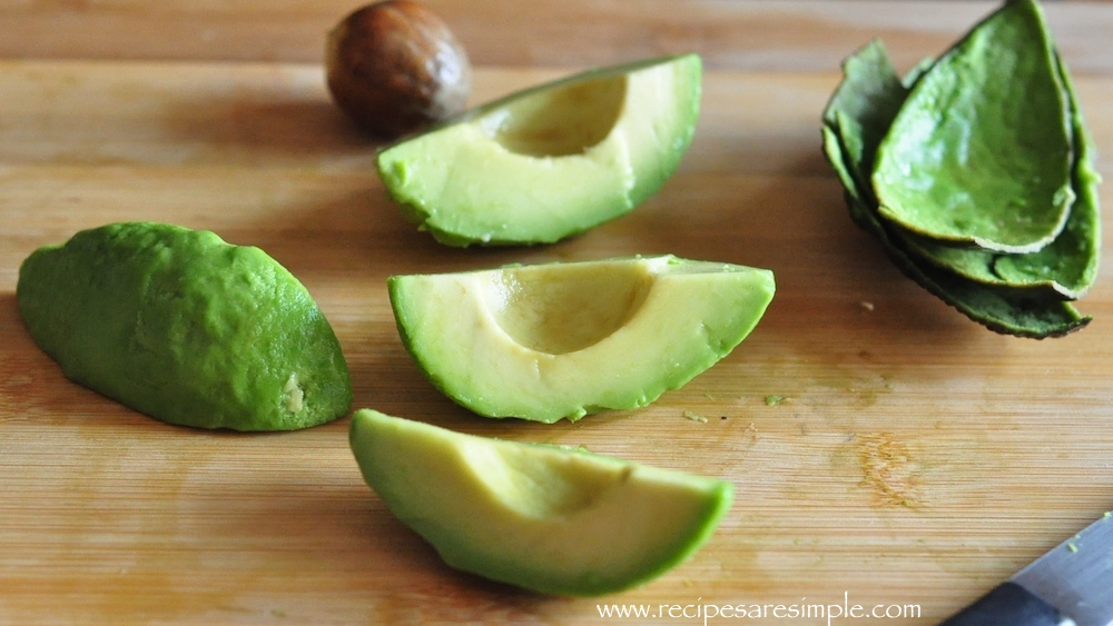 avocado sliced