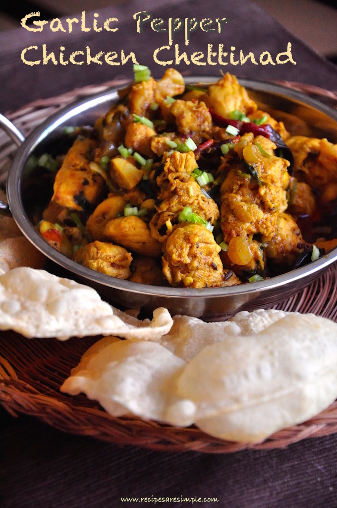 garlic pepper chicken chettinad