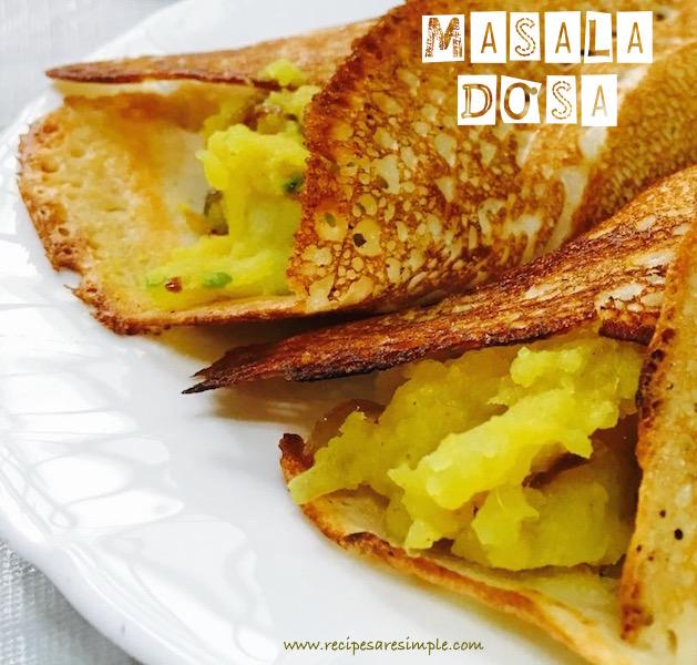Masala Dosa   Spicy Potato Filling   Aloo Bhaji