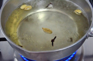 Cloves, Cardamom, Sugar, Water