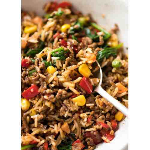 Medium Crop Of Ground Beef And Rice Recipes Skillet