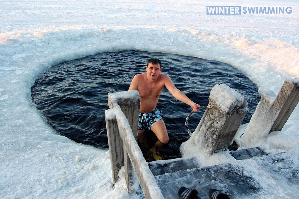 nude ice swimming in russia