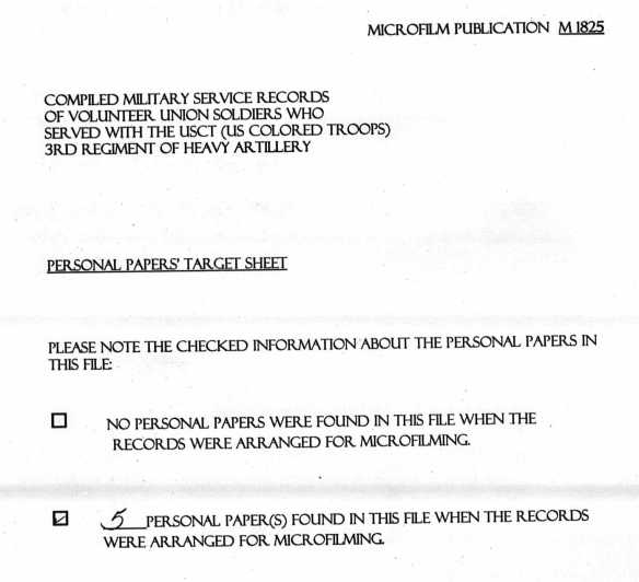Personal Papers Form