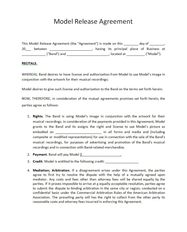 Pricing - Record Label Agreements - music agreement contract