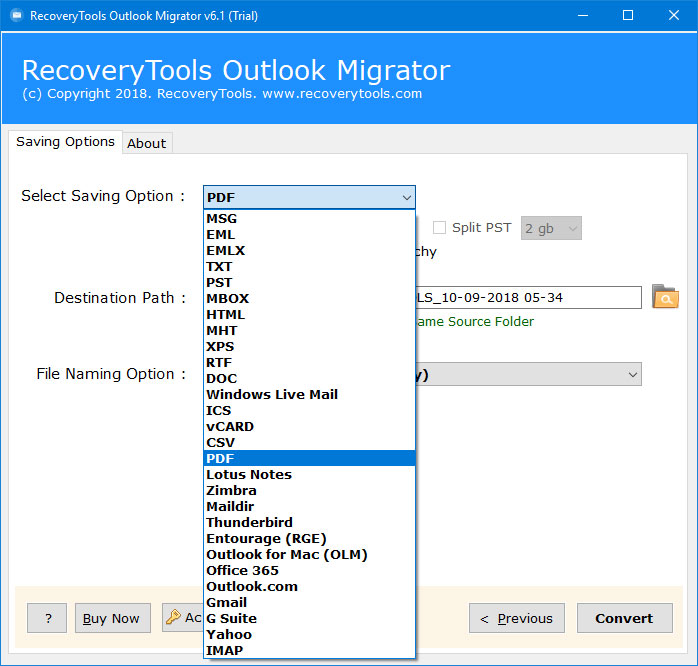 Outlook PST to PDF Converter - Batch Export Outlook Emails to PDF