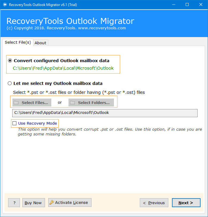 Outlook PST Converter - Migrate Outlook PST to MBOX, PST to EML or
