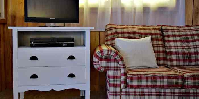 Vintage Dresser Turned TV Stand
