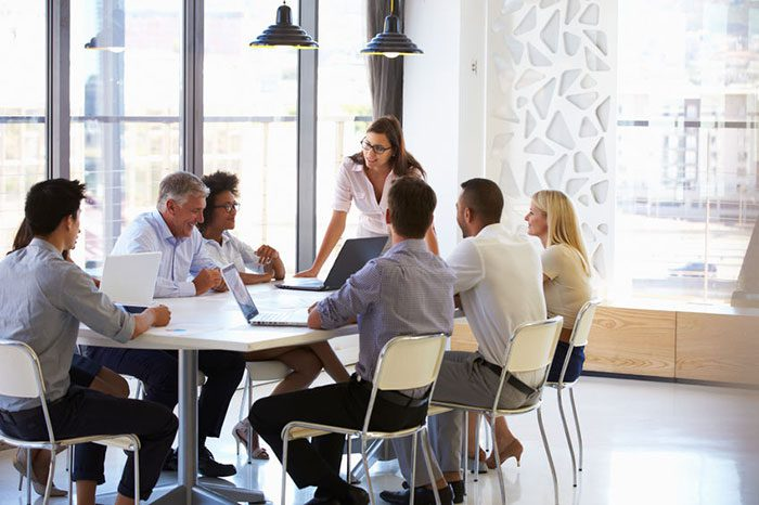 informal business meeting - Achieving Business Growth from Within