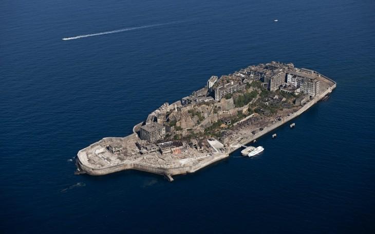 Hashima, bezludnej wyspie w Japonii