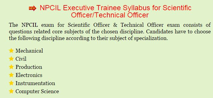 NPCIL Previous Papers   Nuclear Power Corp Stipendiary Trainee, Executive Trainee, Technical Officer Model Papers @ www.npcil.nic.in