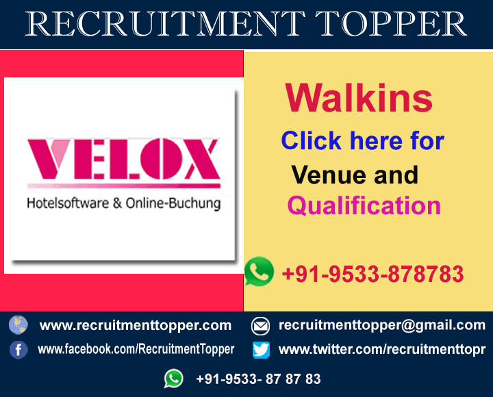 Mukul Executive Search It Recruitment Consultant Velox Walkins For Freshers At Bangalore Recruitment Topper